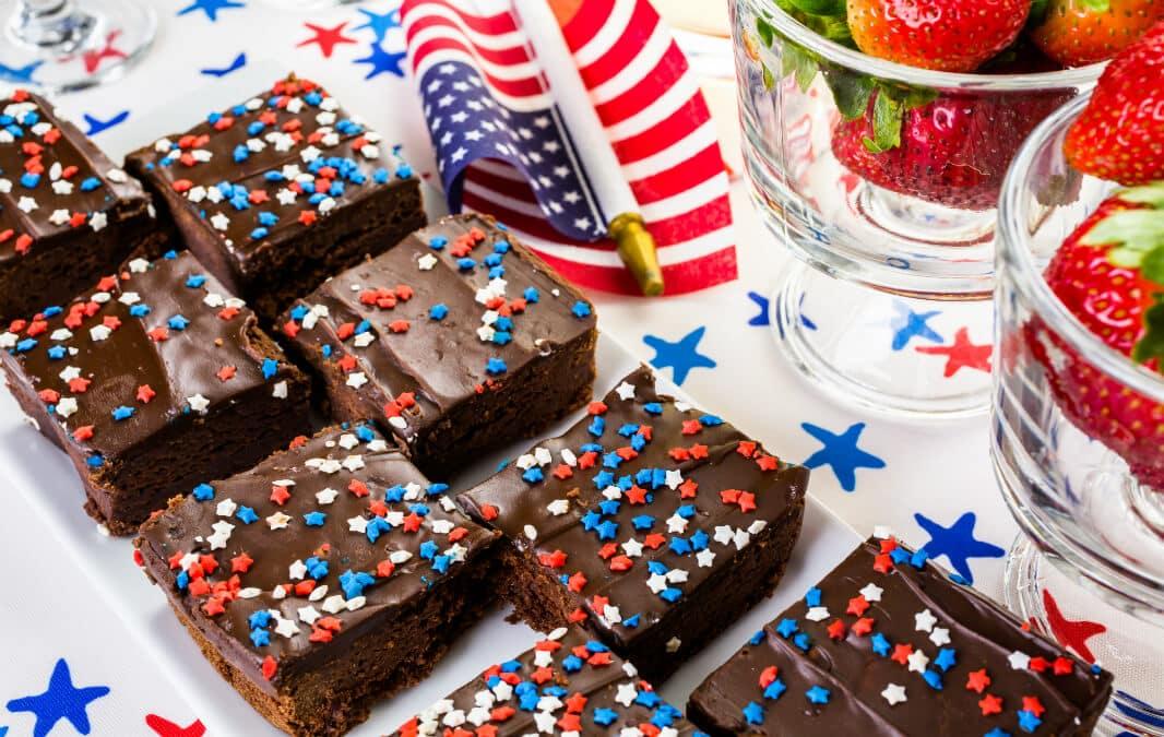 Brownies with sprinkles